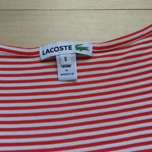 Lacoste Tops - Lacoste small red/white striped tank top, loose